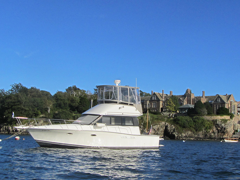 Attached is a photo of u201cIndependenceu201d on her mooring in Brenton Cove in Newport R.I. The Atlantic Towers hardtop is terrific and with the enclosure gives a ... & Boat Arches | Boat Hardtops | Boat Towers and Tee Tops